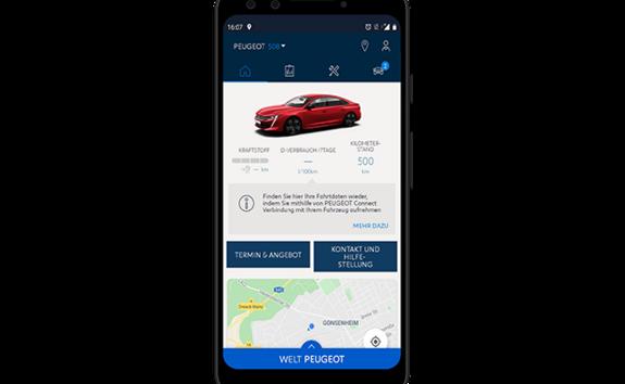 Limousine PEUGEOT 508 – MyPEUGEOT App