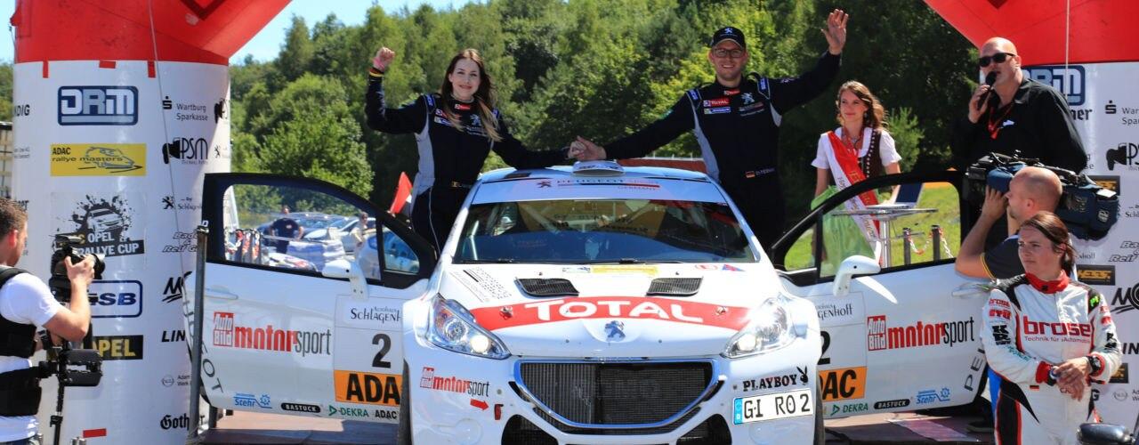 PEUGEOT-Team Riedemann/Vanneste bei der Wartburg Rallye