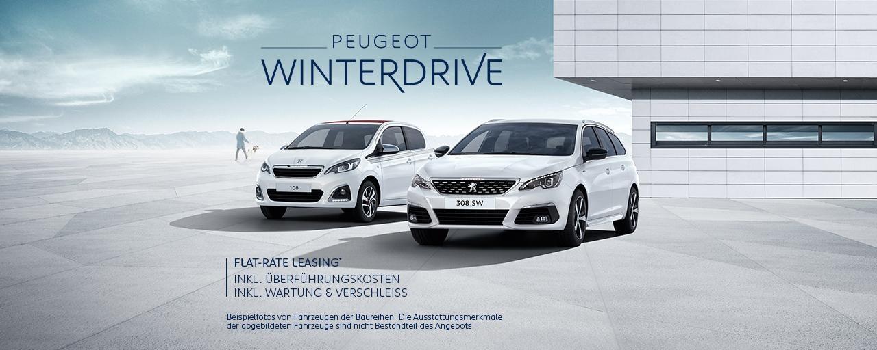 PEUGEOT WinterDrive – Neuwagen inkl. Wartung und Verschleiss inkl. Überfuehrungskosten