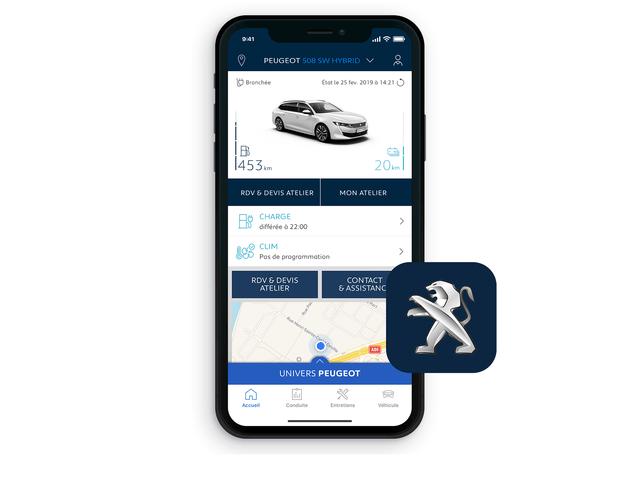 PEUGEOT 508 SW HYBRID - MyPEUGEOT App