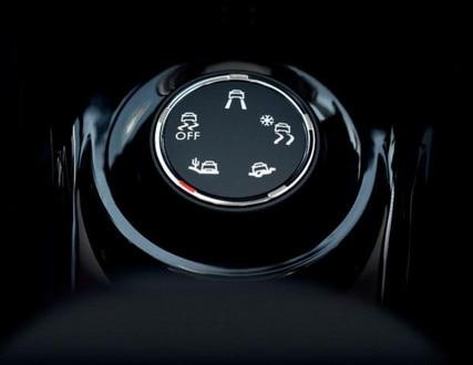 Detailansicht Regler zur Steuerung der GripControl-Funktion im Mini-SUV PEUGEOT 2008