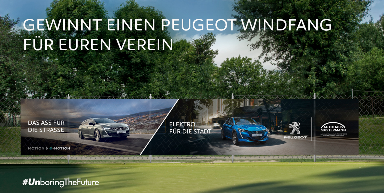 PEUGEOT-Windfang-Aktion