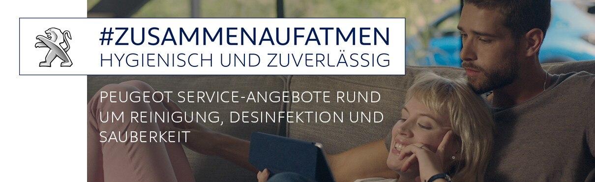 PEUGEOT Service – Angebote rund um Reinigung Desinfektion Service