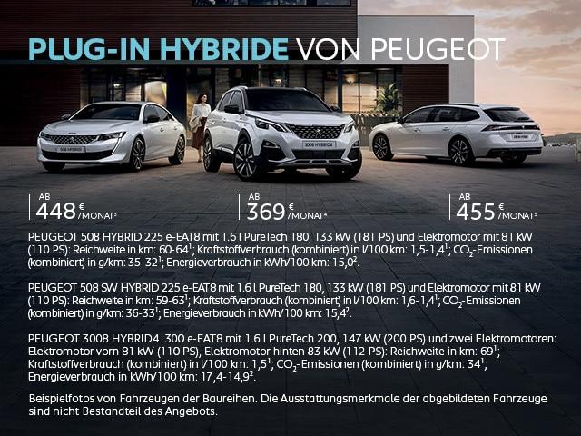 Plug-In Hybride von PEUGEOT – Jetzt entdecken