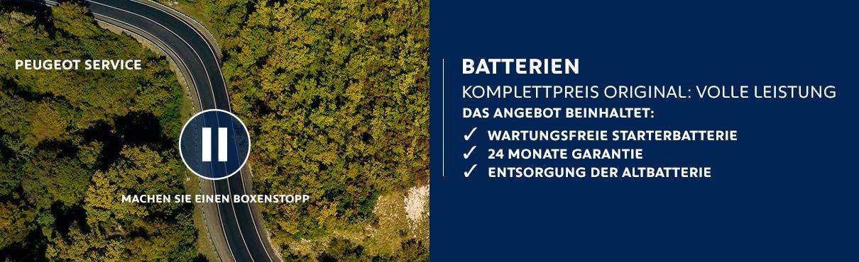 PEUGEOT Service – Batterien