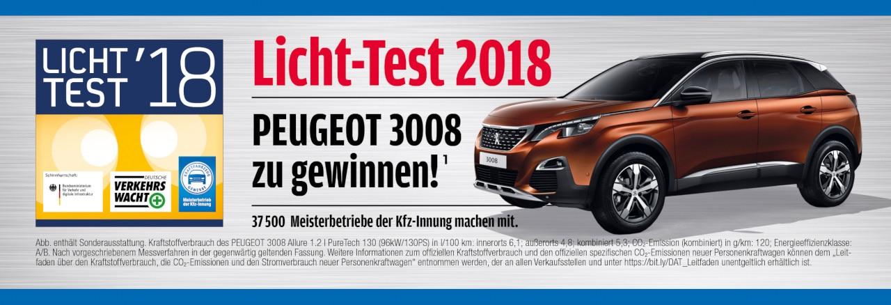 PEUGEOT-Licht-Test-Gewinnspiel