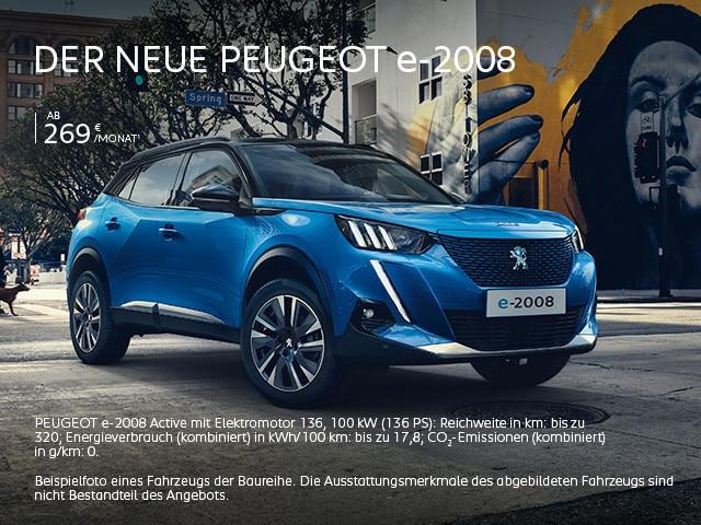 Elektroauto PEUGEOT e-2008 – Angebot entdecken