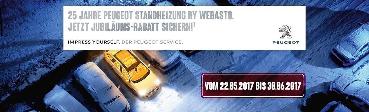Webasto Standheizung 25 Jahre PEUGEOT
