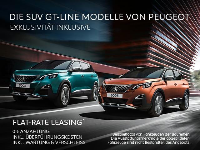 PEUGEOT-SUV-GT-Line-Modelle-Keine-Anzahlung-inkl. Überfuehrung-Wartung-und-Verschleiss