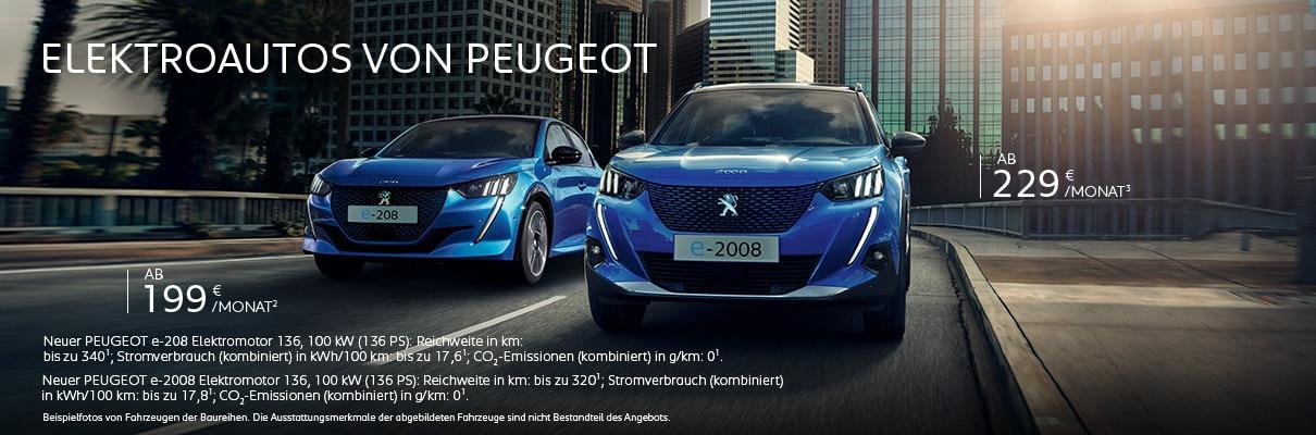 Elektorautos von PEUGEOT jetzt Angebote entdecken