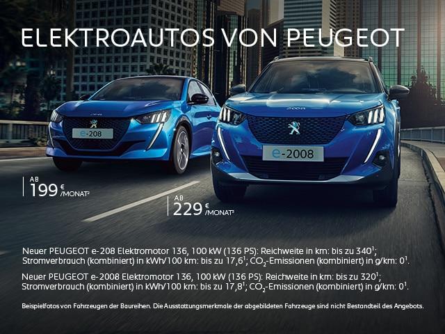 Elektorautos von PEUGEOT jetzt entdecken
