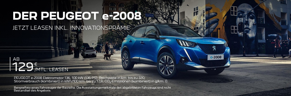 Elektro-SUV PEUGEOT e-2008 – Leasing-Angebot entdecken