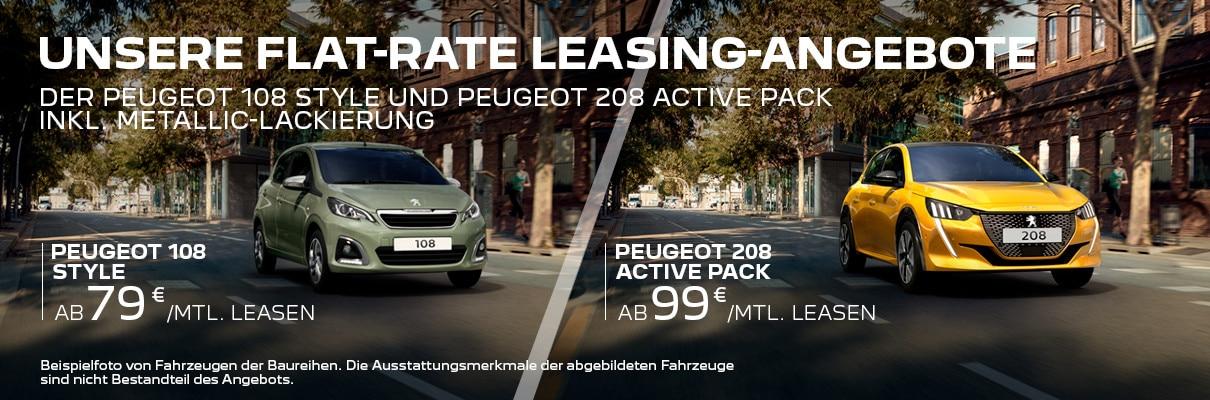 Flat-Rate Leasing-Angebote von PEUGEOT – Jetzt entdecken