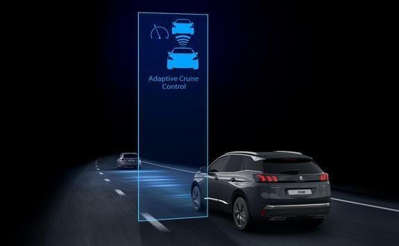 Neuer SUV PEUGEOT 3008 Automatischer Geschwindigkeitsregler ACC mit STOP & GO-Funktion