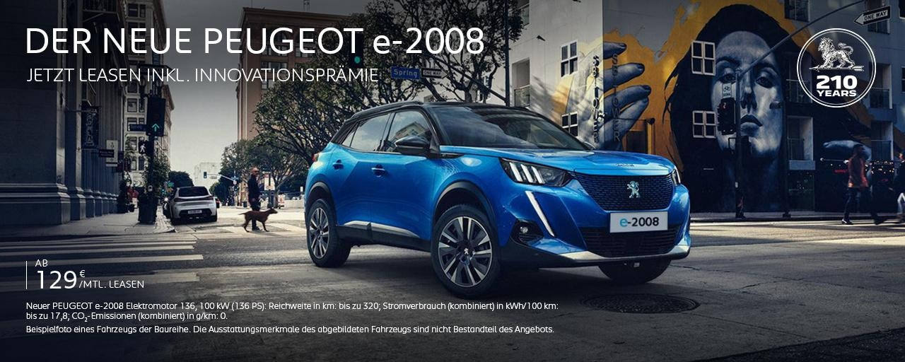Elektroauto SUV PEUGEOT e-2008 entdecken