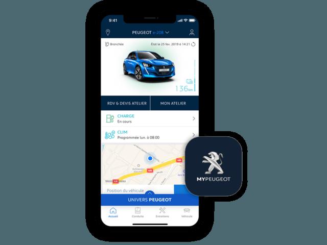 MyPeugeot App – spezielle Anwendungen fuer Elektroautos