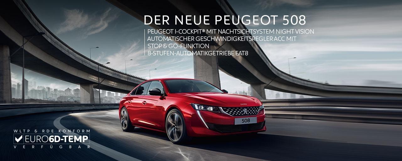 Neue-PEUGEOT-508-Coupé-Limousine-mit-vielen-Extras-wie-Night-Vision-und-Euro-6d-TEMP