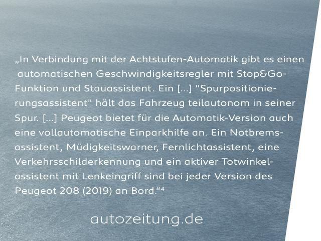 Neuer PEUGEOT 208 – Assistenzsysteme - Moderne Ausstattung im neuen Stadtauto