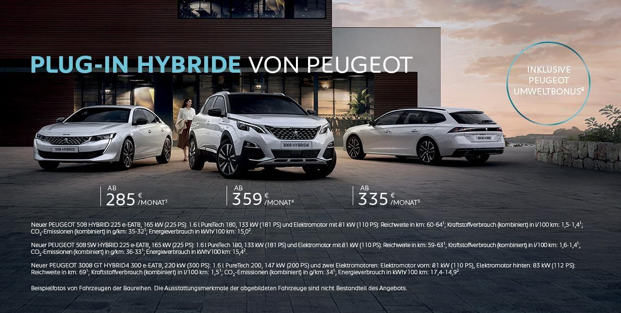 Plug-In Hybride von PEUGEOT inklusive PEUGEOT Umweltbonus