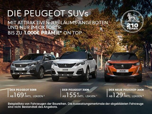SUVs von PEUGEOT mit attraktiven Angeboten entdecken