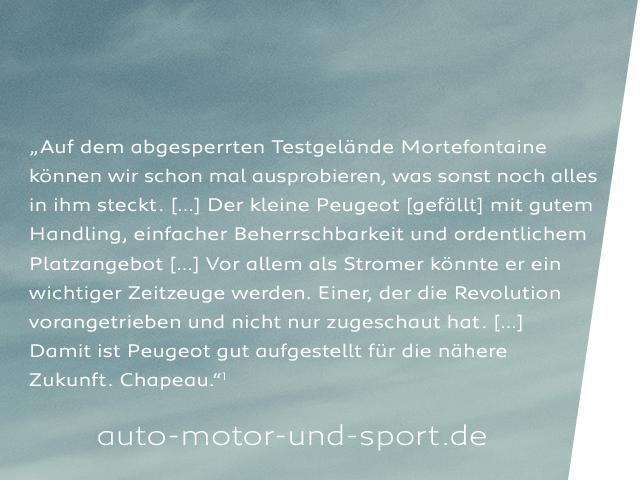 Neues Elektroauto PEUGEOT e-208 – Schick Esprit und Liebe zum Detail