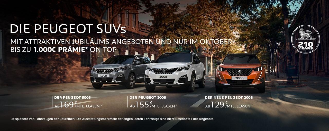 SUVs von PEUGEOT mit attraktiven Angeboten