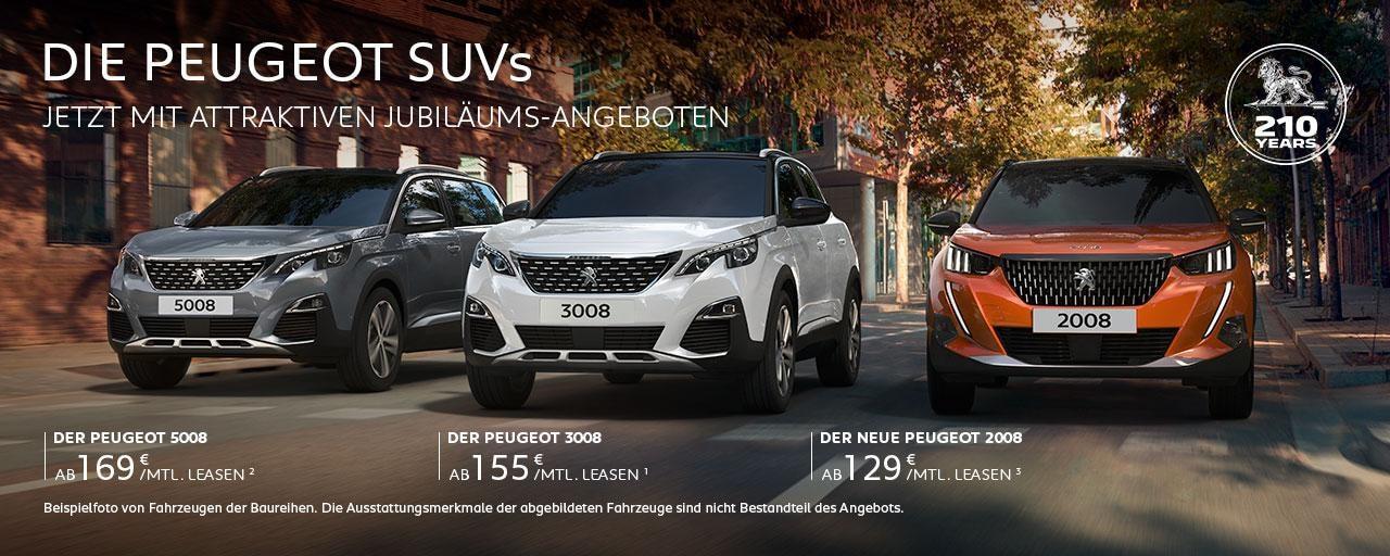 SUVs von PEUGEOT mit attraktiven Angeboten – Jetzt entdecken