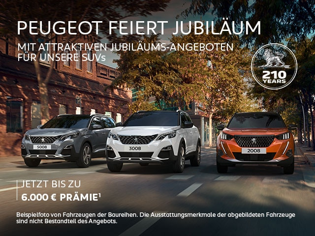 PEUGEOT SUV mit Jubilaeums-Praemie entdecken