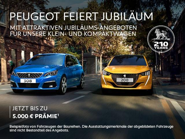 PEUGEOT Neuwagen – Jubilaeums-Praemie und top Leasing Angebote – Jetzt entdecken