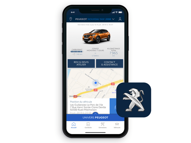 Der neue City-SUV PEUGEOT 2008 – MYPEUGEOT® App