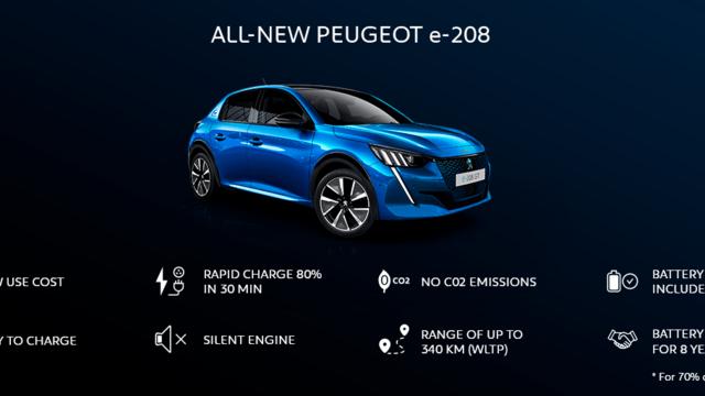 DER NEUE PEUGEOT e-208 – Die Vorteile des PEUGEOT e-208