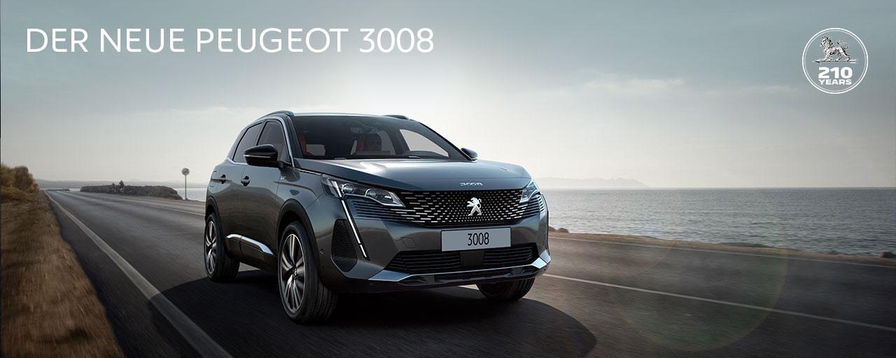 Neuer SUV PEUGEOT 3008 – Jetzt entdecken