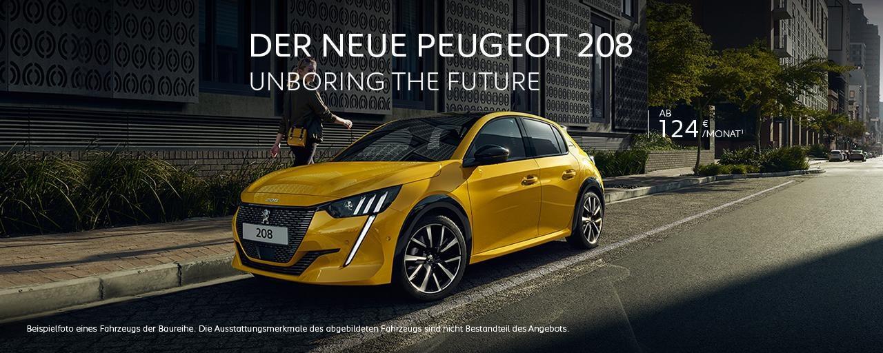 Neuer PEUGEOT 208 – Neuwagen Angebot mit attraktiven Konditionen entdecken