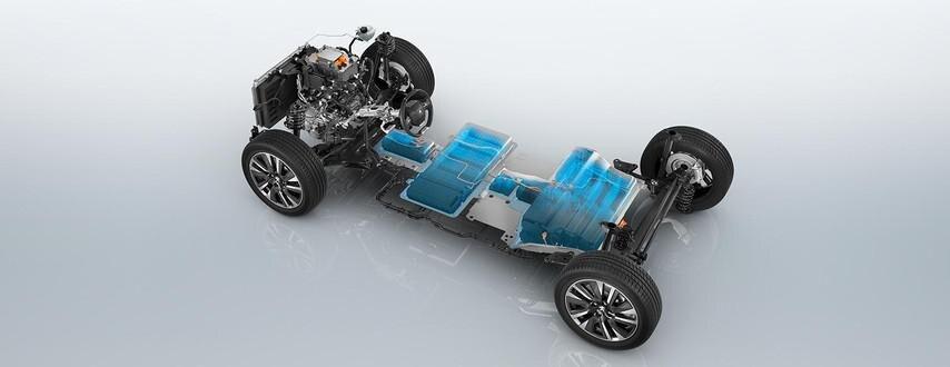 Das neue Elektroauto PEUGEOT e-2008 – Fahrgestell
