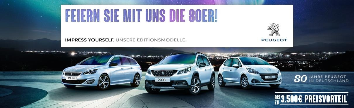 80 Jahre Peugeot Editionsmodelle