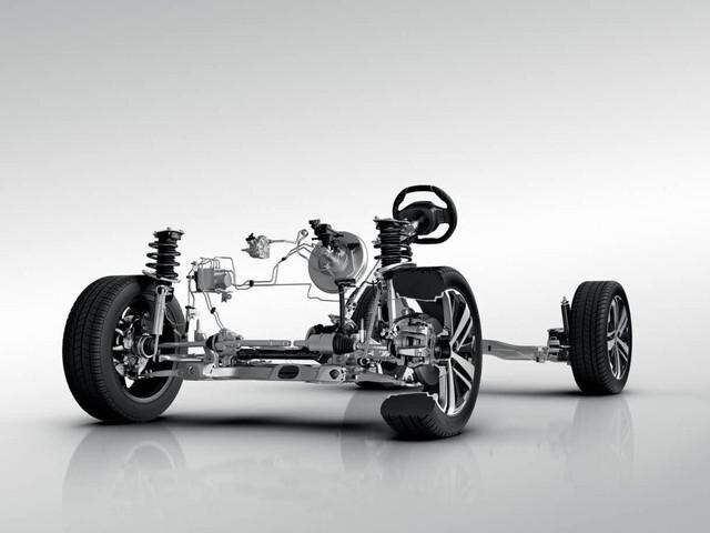 Technische Darstellung des Fahrgestells des PEUGEOT 3008
