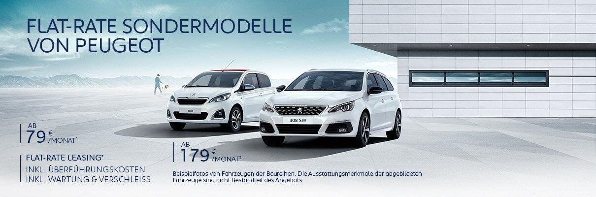 Neuwagen Angebot von PEUGEOT inkl. Ueberfuehrungskosten inkl. Wartung und Verschleiss entdecken