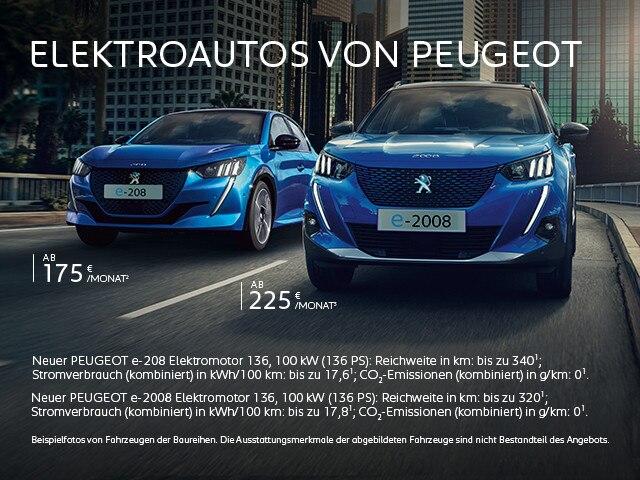 Elektroautos von PEUGEOT – Neuwagen Angebote jetzt entdecken