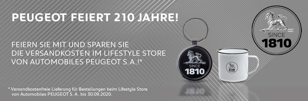 Versandkostenfreie Lieferung beim Lifestyle Store von Automobiles PEUGEOT S.A.