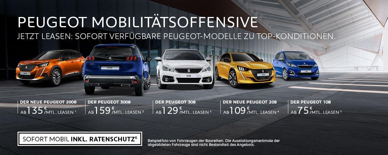 Sofort verfuegbare PEUGEOT Neuwagen mit Top-Konditionen – Jetzt Wunschmodell finden