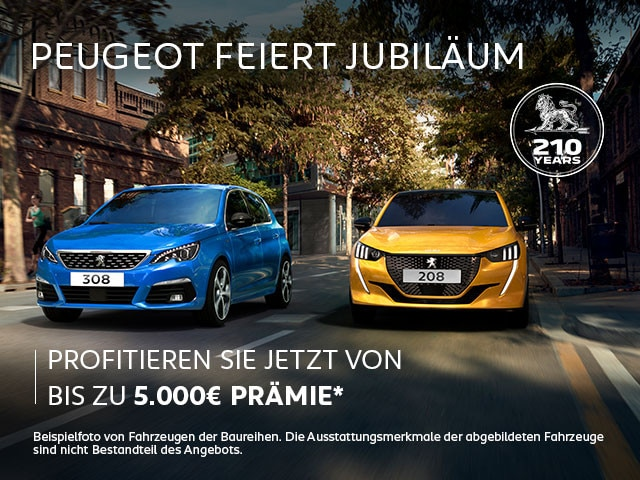 PEUGEOT Jubilaeums-Praemie – Angebote jetzt entdecken
