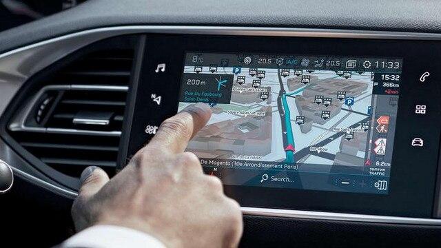 PEUGEOT 308 3D-Navigation TomTom Technologie