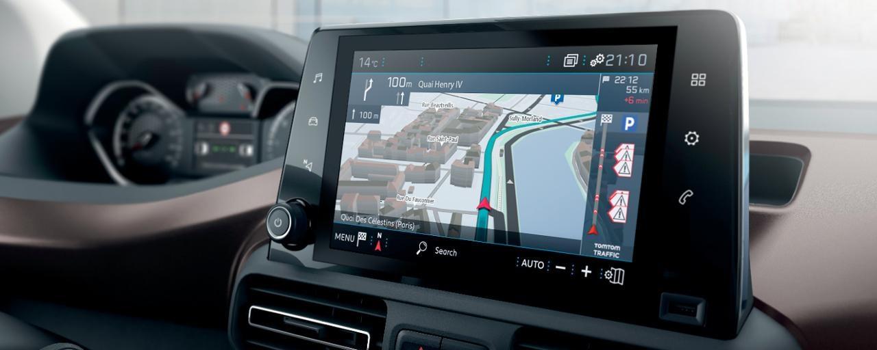 Neuer PEUGEOT RIFTER – 3D-Navigation TomTom®