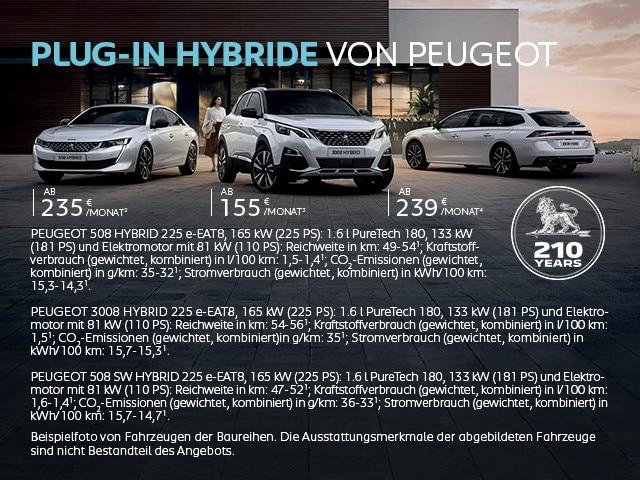 Plug-In Hybride von PEUGEOT – Leasing Angebote entdecken
