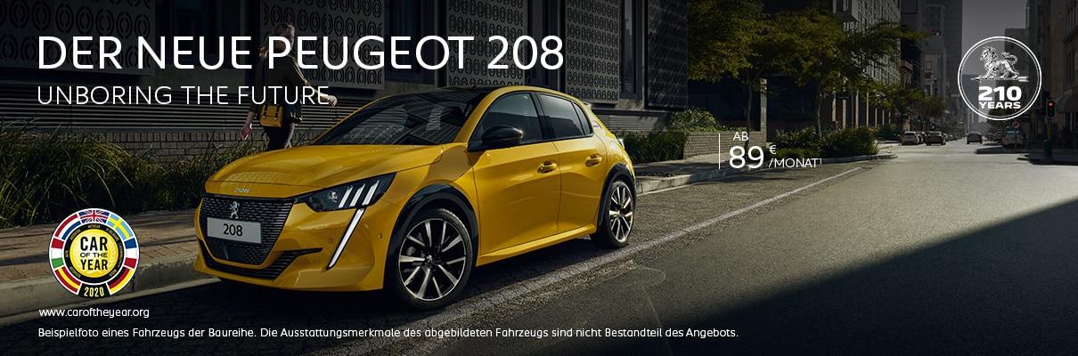 Neuer PEUGEOT 208 Angebote entdecken
