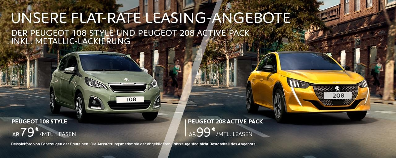 Flat-Rate Leasing-Angebote von PEUGEOT entdecken