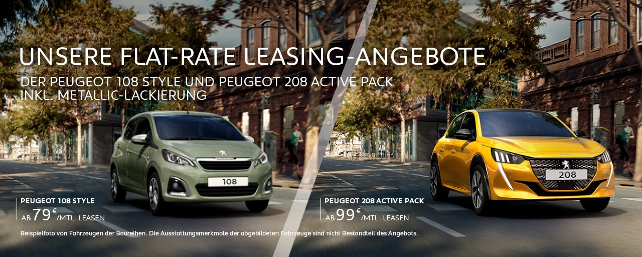 Flat-Rate Leasing-Angebote von PEUGEOT