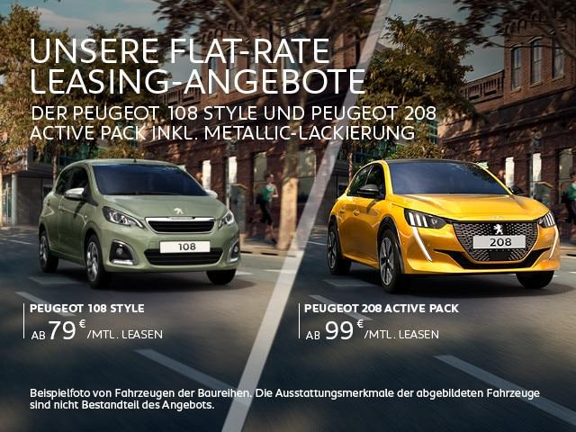 Flat-Rate Leasing-Angebote von PEUGEOT jetzt entdecken