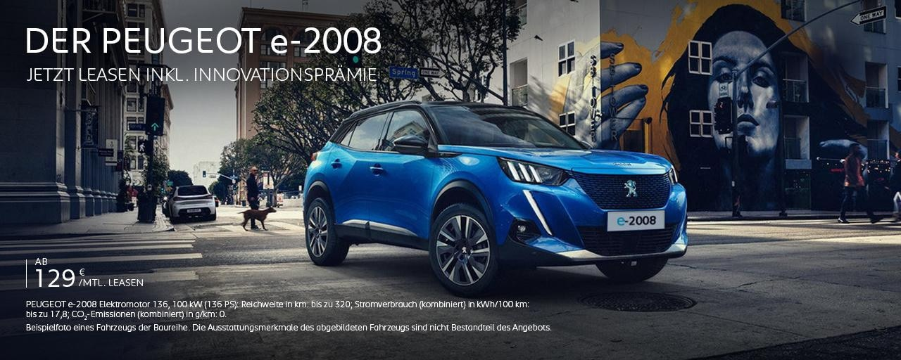Elektro-SUV PEUGEOT e-2008 – Jetzt entdecken