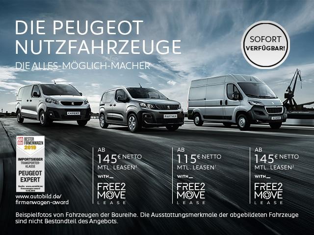 Sofort verfuegbare PEUGEOT Nutzfahrzeuge Leasing Angebote